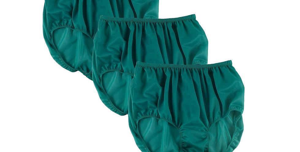 BB4 Deep Green Lots 3 pcs Wholesale Women New Panties Granny Briefs Nylon