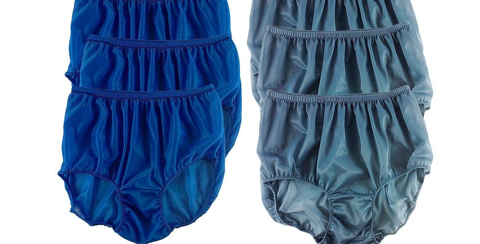NSD108Lots 6 pcs Wholesale Women New Panties Granny Briefs Nylon Lingerie
