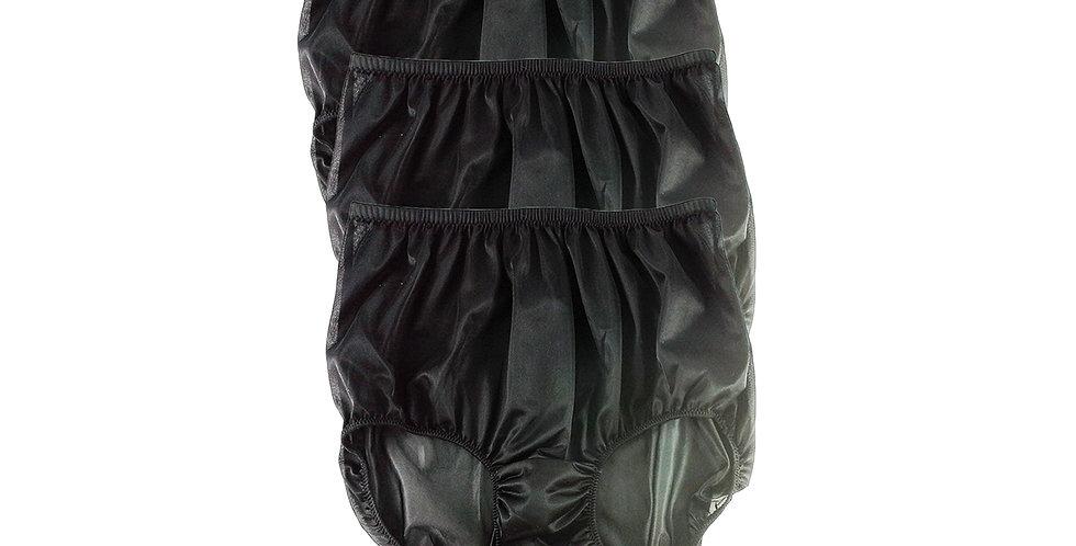 B1 BLACK Lots 3 pcs Wholesale Women New Panties Granny Briefs Nylon Knickers