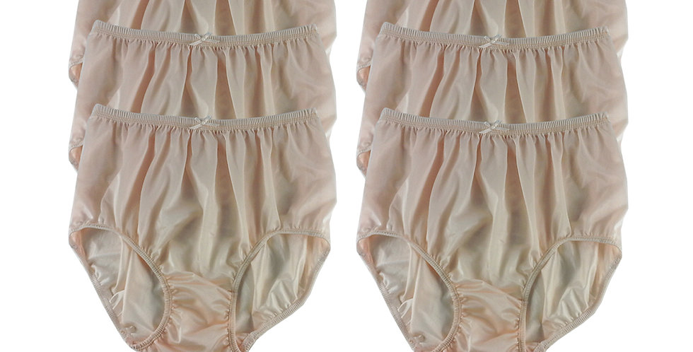 NQS02 fair orange Lot 6 pcs Wholesale New Panties Granny Briefs Nylon Men Women