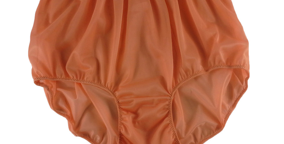 NN10 Orange Women Vintage Panties Granny HI-CUTS Briefs Nylon Knickers