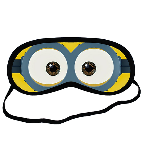 EYM439 minion Eye Printed Sleeping Mask