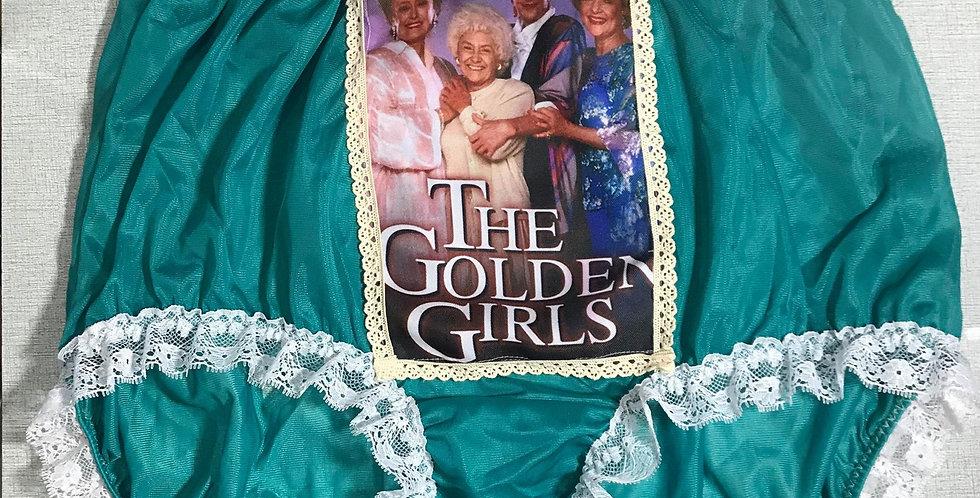 New Green The Golden Girls Briefs Nylon Lacy Panties Knickers Men Handmade GG15