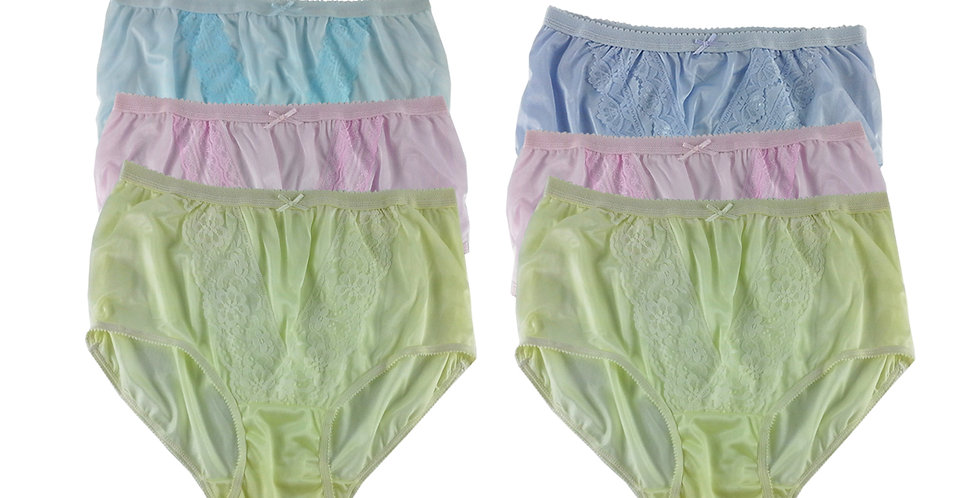 NLSG105 Lots 6 pcs Wholesale New Panties Granny Briefs Nylon Men Women