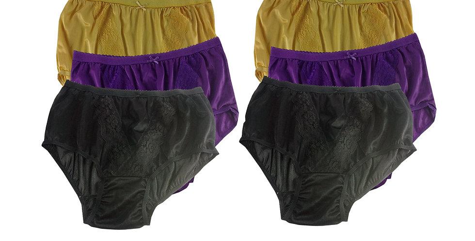 KJSJ62 Lots 6 pcs Wholesale New Panties Granny Briefs Nylon Men Women