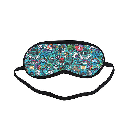 PTEM095 Villain Characters Cartoon Design Eye Printed Sleeping Mask