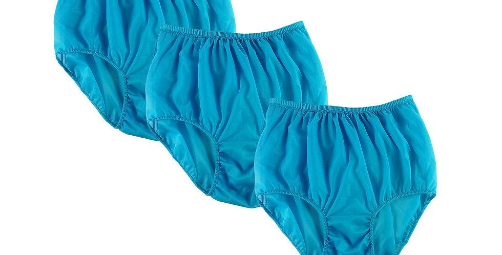 BB10 Light Blue Lots 3 pcs Wholesale Women New Panties Granny Briefs Nylon