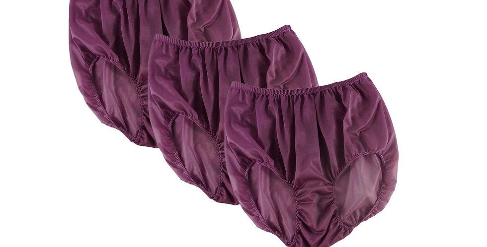BB14 Red-Violet Lots 3 pcs Wholesale Women New Panties Granny Briefs Nylon