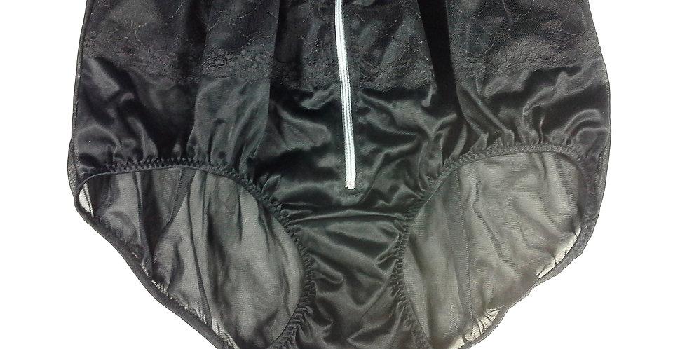 JYH03D01 black Handmade Nylon Panties Women Men Lace Knickers Briefs
