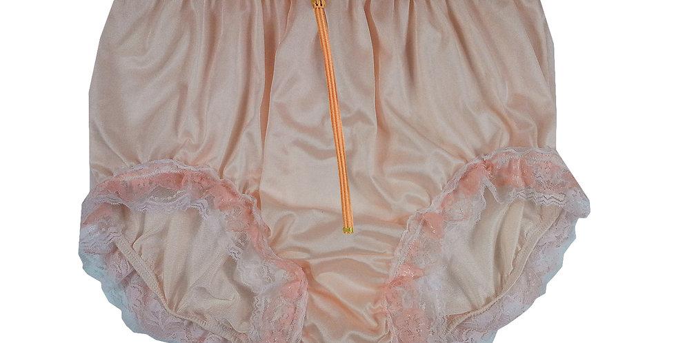 NQH23DP08 Orange Zipper New Panties Granny Briefs Nylon Handmade Lace Men