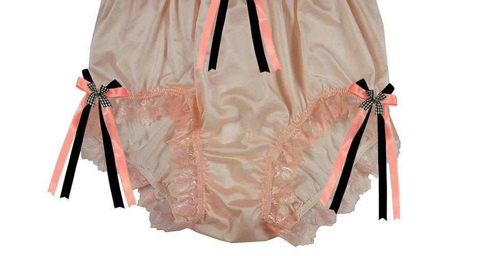 NQH18D08 Orange New Panties Granny Briefs Nylon Handmade Lace Men