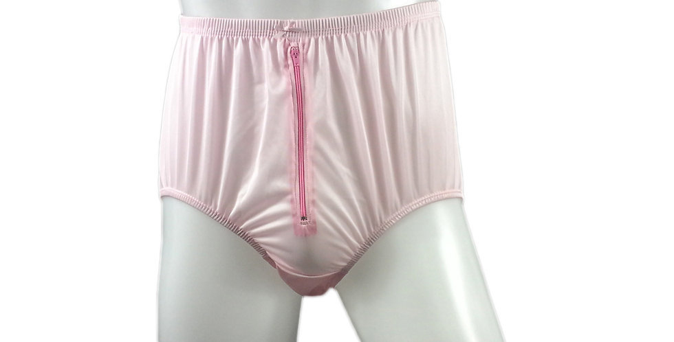 NQH03B02 fair pink Panties Granny Briefs Nylon Handmade Lace Men Woman