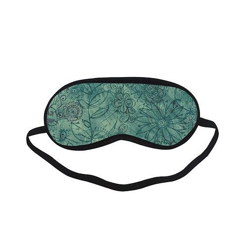 PTEM082 Green flora Eye Printed Sleeping Mask