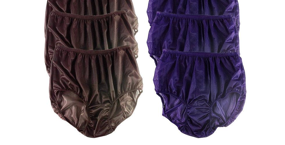 NSD17Lots 6 pcs Wholesale Women New Panties Granny Briefs Nylon Lingerie