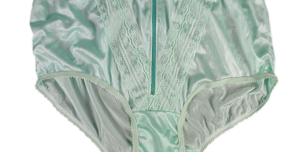 NLH03D01 Green Panties Granny Lace Briefs Nylon Handmade  Men Woman
