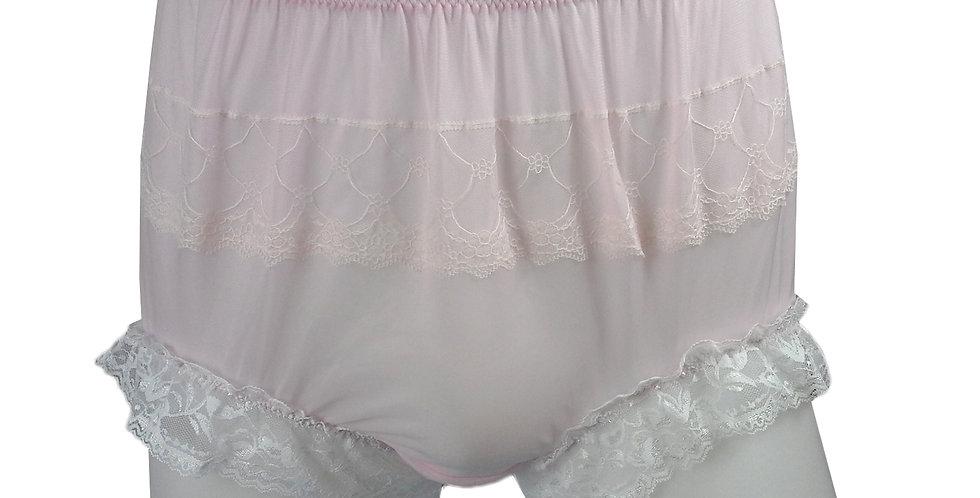 JYH01D02 Pink Handmade Nylon Panties Women Men Lace Knickers Briefs