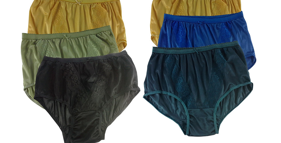 KJSJ43 Lots 6 pcs Wholesale New Panties Granny Briefs Nylon Men Women