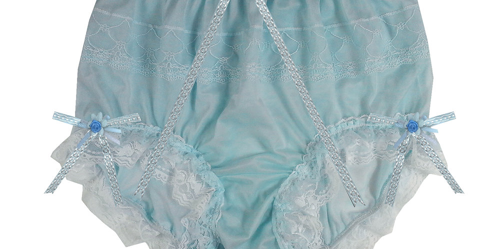 JYH22D30 Blue Handmade Nylon Panties Women Men Lace Knickers Briefs