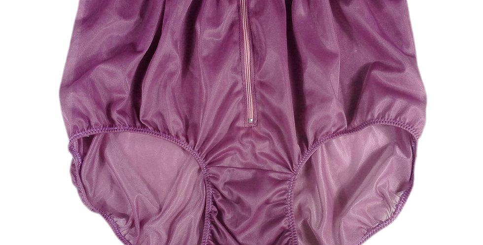 NH03D11 Deep Pink Handmade Panties Lace Women Men Briefs Nylon Knickers