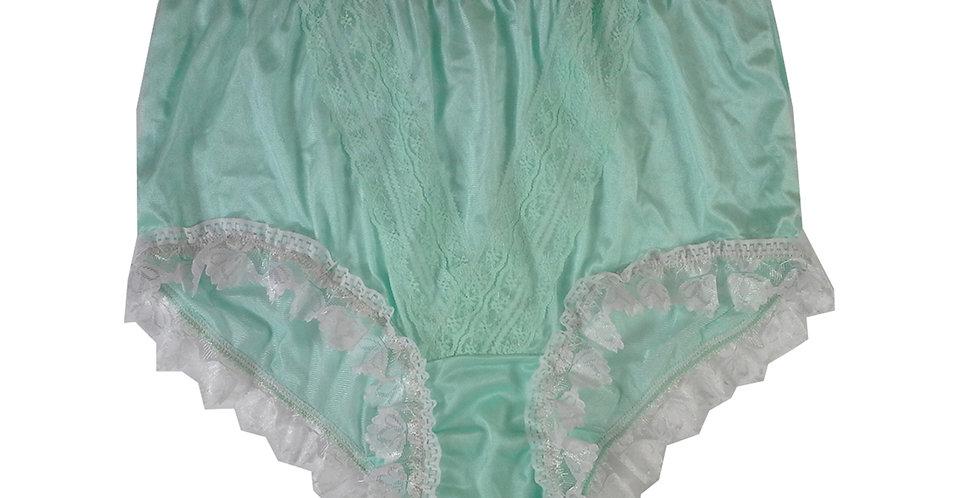 NLH24D05 Fair Green New Panties Granny Lace Briefs Nylon Handmade  Men