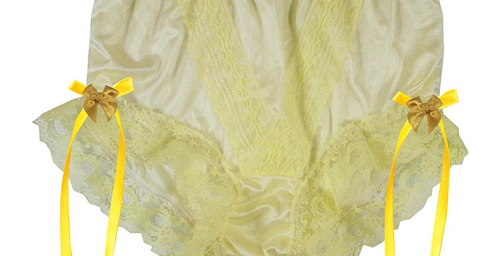 NLH17D02 Yellow New Panties Granny Lace Briefs Nylon Handmade  Men