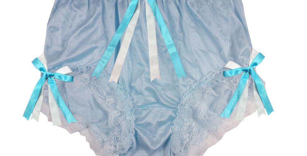 NYH22D02 Blue Handmade New Panties Briefs Lace Sheer Nylon Men Women