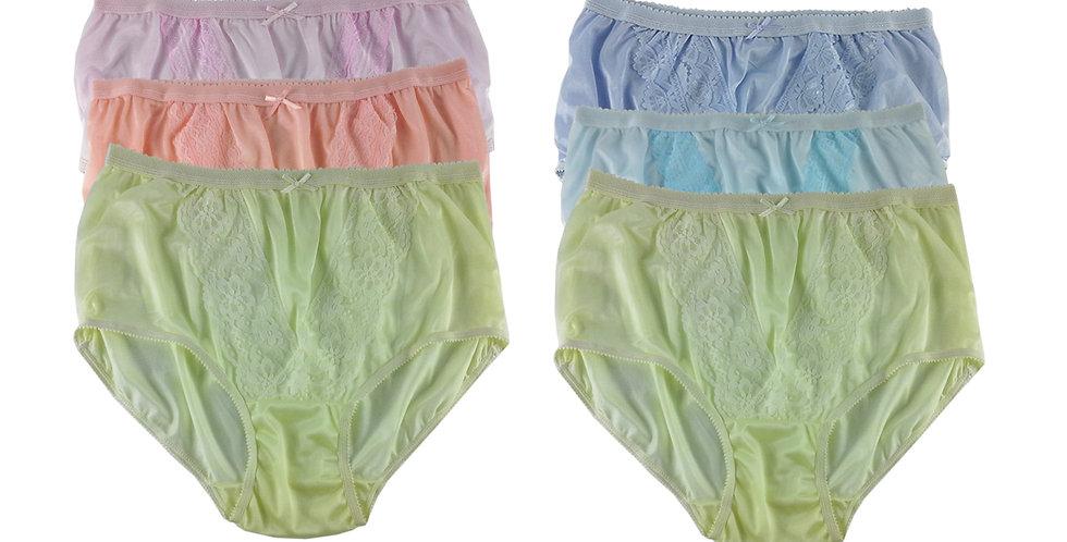 NLSG93 Lots 6 pcs Wholesale New Panties Granny Briefs Nylon Men Women