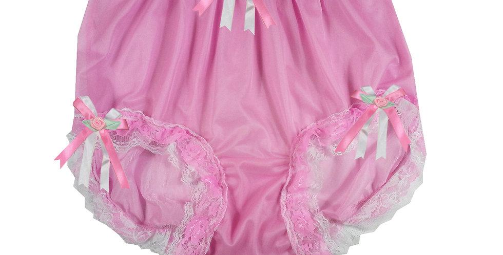 NNH22D59 Pink Handmade Panties Lace Women Men Briefs Nylon Knickers