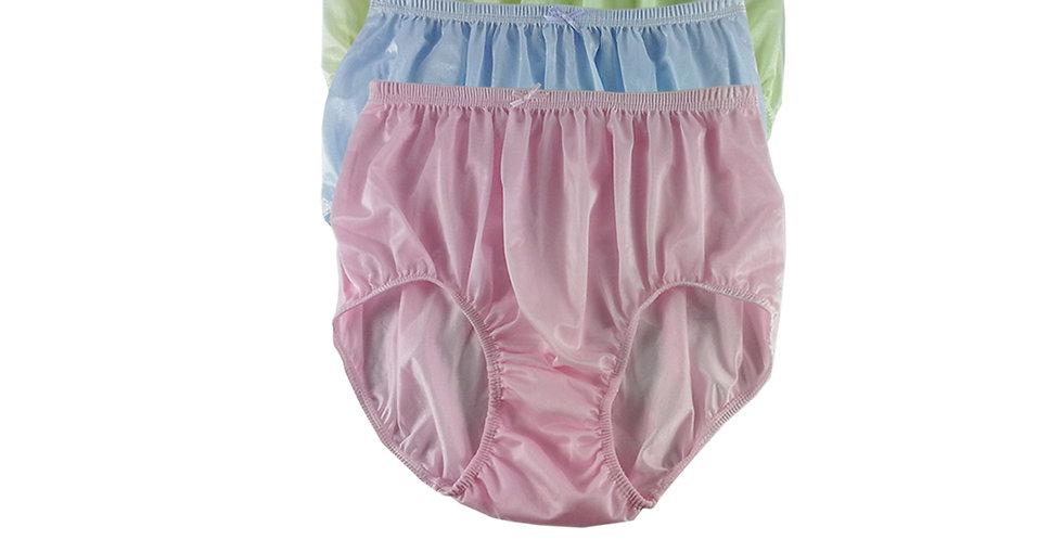 NQTD10 Lot 3 pcs Wholesale New Panties Granny Briefs Nylon Men Women