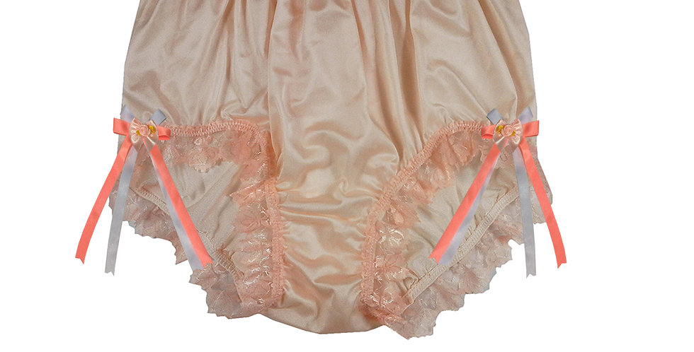 NQH17D08 Orange New Panties Granny Briefs Nylon Handmade Lace Men