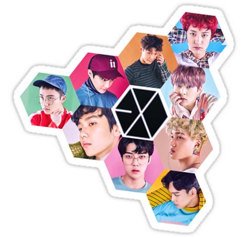 EXO SSTK059 K-Pop Music Brand Car Window Decal Sticker