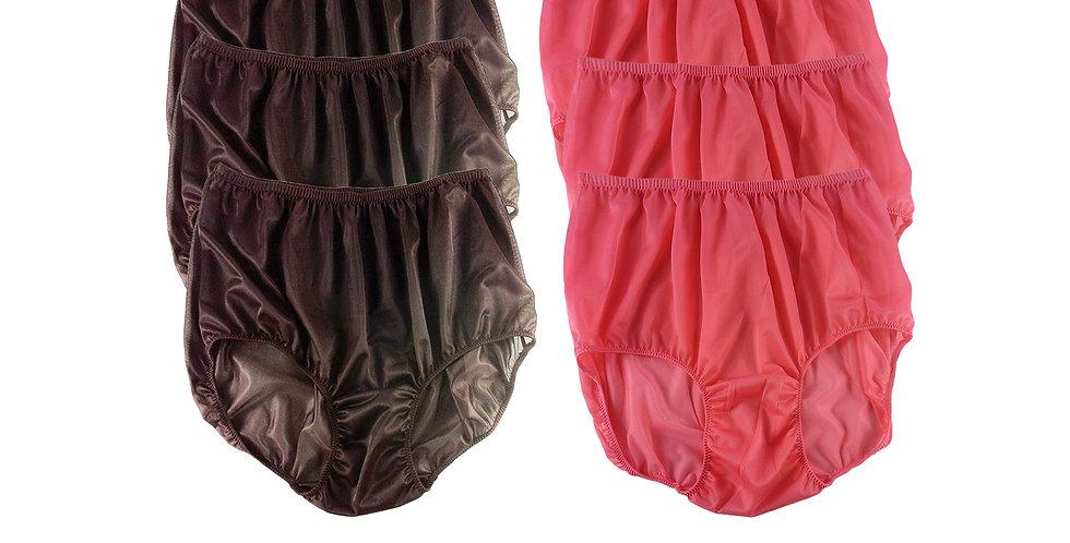 NSD26Lots 6 pcs Wholesale Women New Panties Granny Briefs Nylon Lingerie