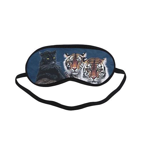 ATEM071A Black panther & Tiger Eye Printed Sleeping Mask