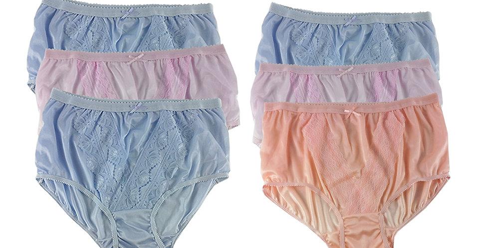 NLSG27 Lots 6 pcs Wholesale New Panties Granny Briefs Nylon Men Women