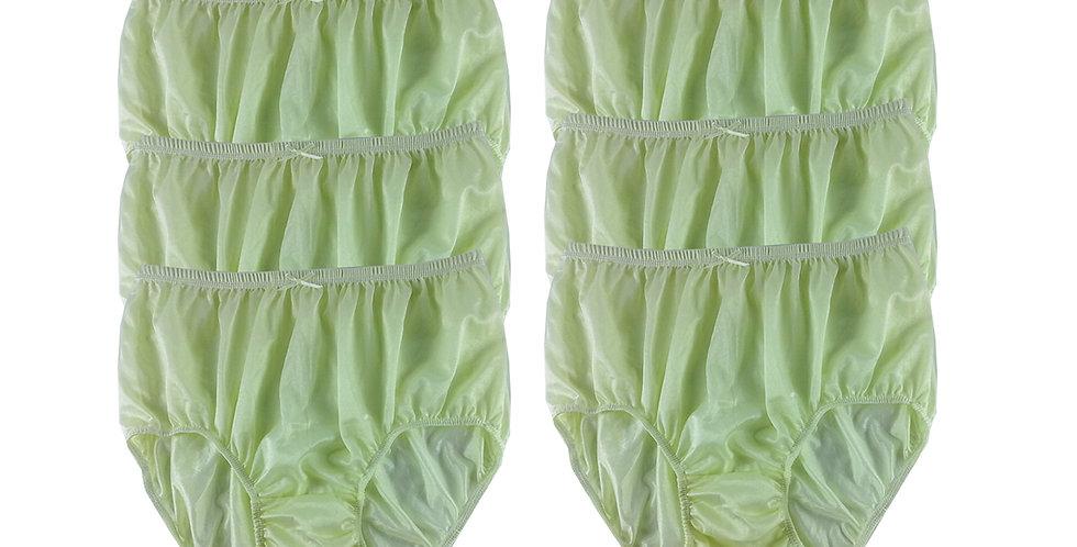 NQS06 Yellow Lot 6 pcs Wholesale New Panties Granny Briefs Nylon Men Women