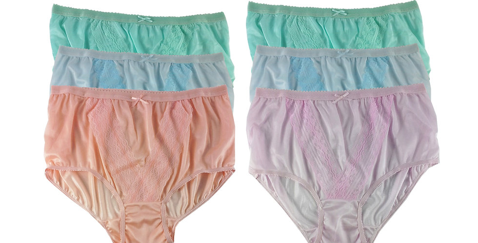 NLSG139 Lots 6 pcs Wholesale New Panties Granny Briefs Nylon Men Women