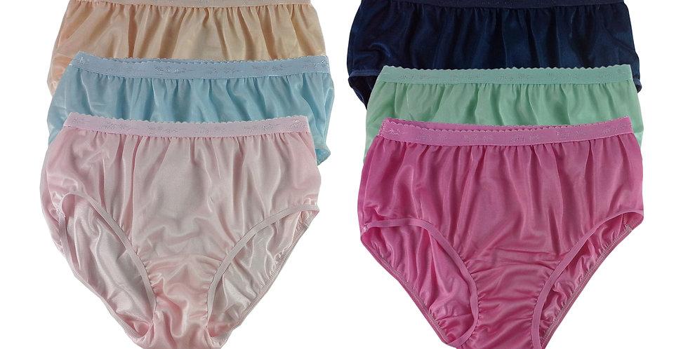 CKSL50 Lots 6 pcs Wholesale New Nylon Panties Women Undies Briefs