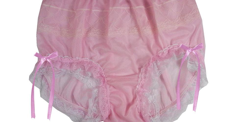 JYH21D04 Pink Handmade Nylon Panties Women Men Lace Knickers Briefs
