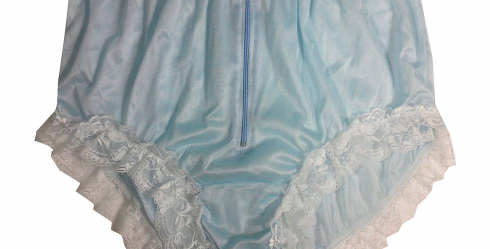 NYH09D03 Blue Handmade New Panties Briefs Lace Sheer Nylon Men Women