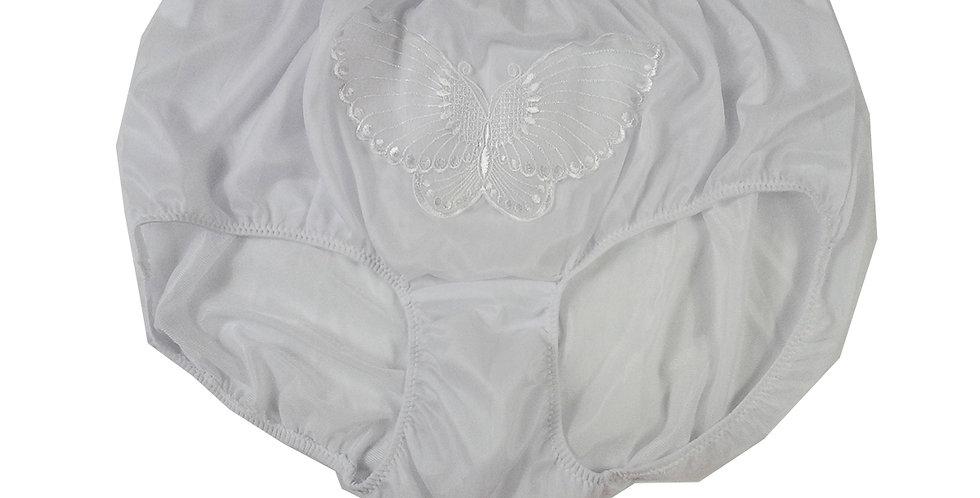 Fancy White Butterfly Lacy High Cut nylon Panties Briefs Men Handmade NNSPF01