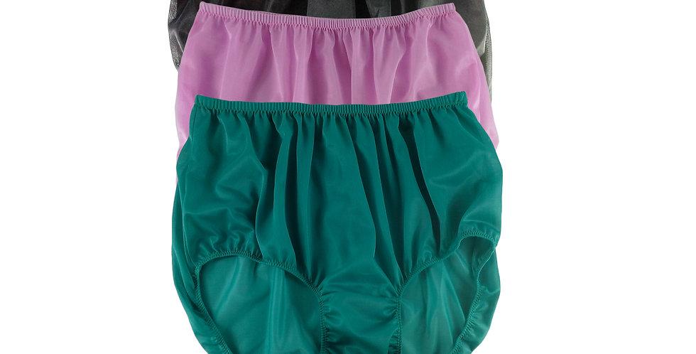 A57 Lots 3 pcs Wholesale Women New Panties Granny Briefs Nylon Knickers