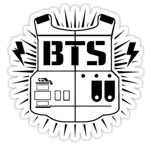 Bts (ARMY Black) SSTK052 K-Pop Music Brand Car Window Decal Sticker