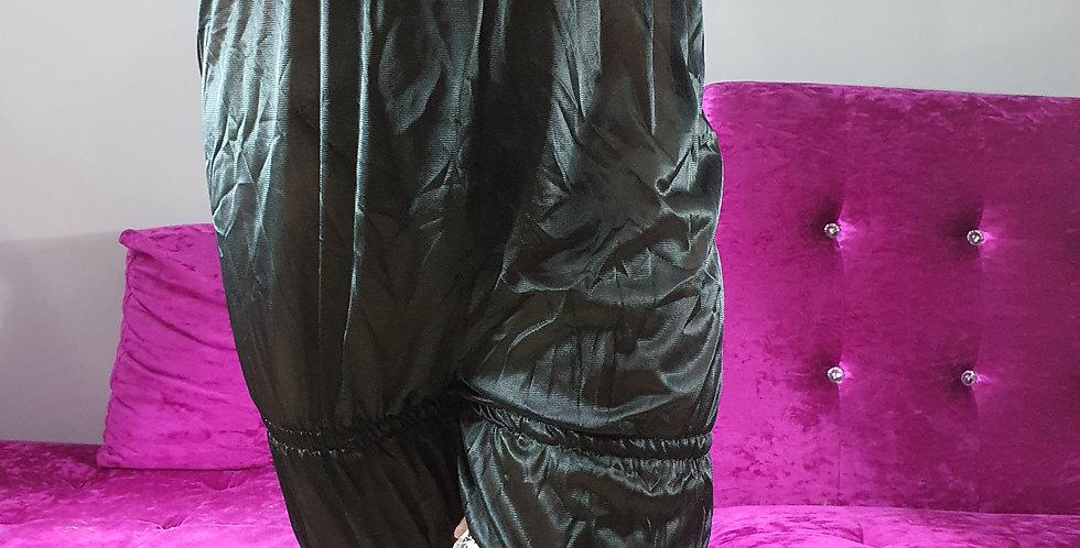 Black Bloomer Underwear Lingerie Pettipants Men Handmade Nylon Slip Lacy NSLTL16