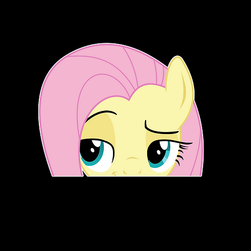 Peeking stickers Anime Stickers for Car Decals PKT257 Fluttershy My Little Pony