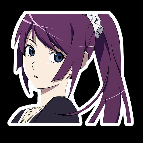 Peek Anime Peeking Sticker Car Decal PKN121 Senjougahara Hitagi Bakemonogatari