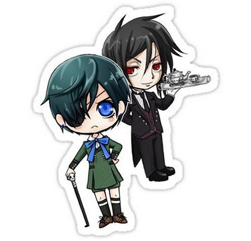 SRBB0680 Kuroshitsuji - Ciel & Sebastian black butler anime sticker