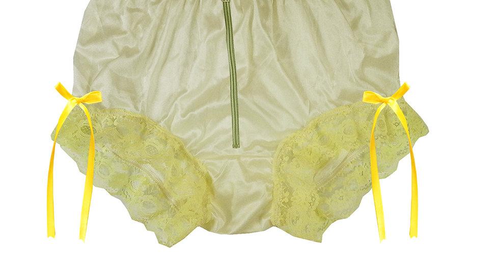 NYH20D01 Yellow Zipper Handmade New Panties Briefs Lace Sheer Nylon Men Women