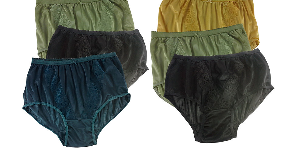KJSJ18 Lots 6 pcs Wholesale New Panties Granny Briefs Nylon Men Women