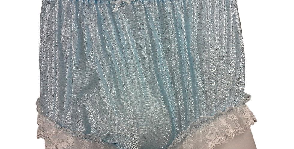 SFH01D03 Fair Blue Shiny Nylon New Panties Women Men Handade Briefs