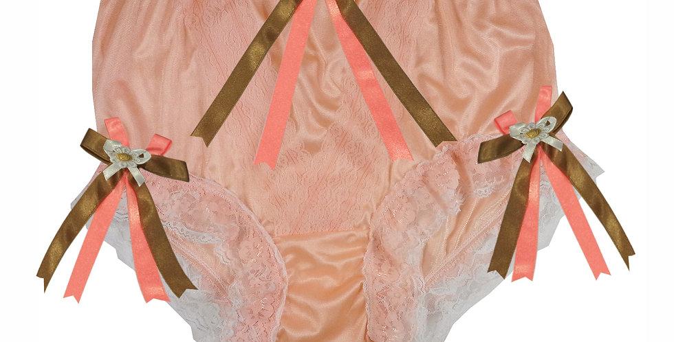 NLH22D01 Orange New Panties Granny Lace Briefs Nylon Handmade  Men